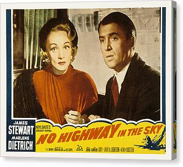 Posth Canvas Print - No Highway In The Sky, Marlene by Everett