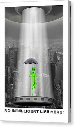 No Intelligent Life Here 2 Canvas Print by Mike McGlothlen