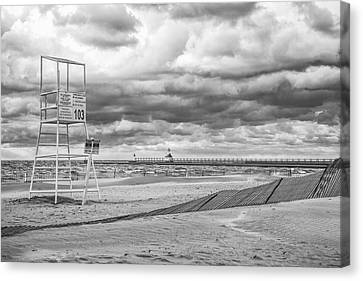 No Lifeguard On Duty Canvas Print by John Crothers