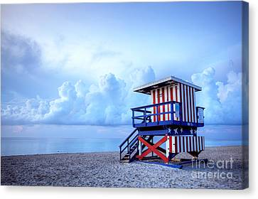 No Lifeguard On Duty Canvas Print by Martin Williams