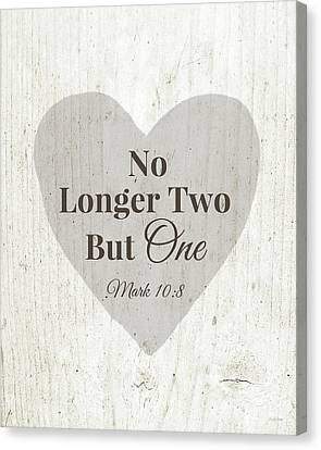 No Longer Two- Art By Linda Woods Canvas Print by Linda Woods