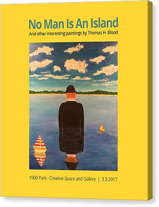 No Man Is An Island T-shirt Canvas Print by Thomas Blood