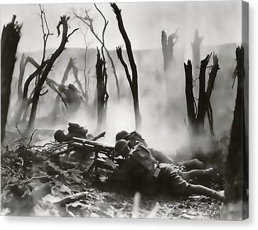 No Man's Land - Trench Warfare - World War One Canvas Print by Daniel Hagerman
