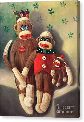 No Monkey Business Here 2 Canvas Print by Randy Burns