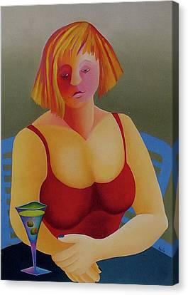 Canvas Print featuring the painting No More by Karin Eisermann