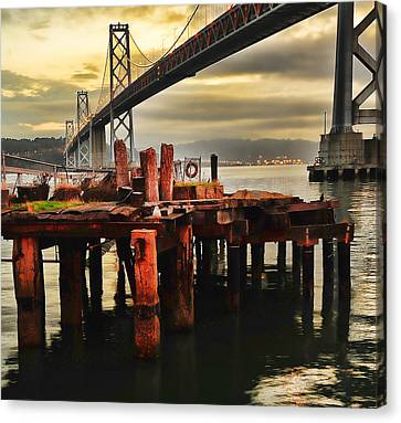 Canvas Print featuring the photograph No Name Dock by Steve Siri