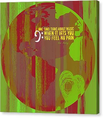 No Pain Bob Marley V2 Canvas Print by Brandi Fitzgerald