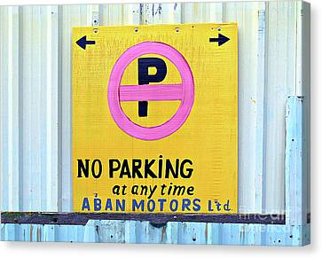 No Parking Canvas Print by Ethna Gillespie