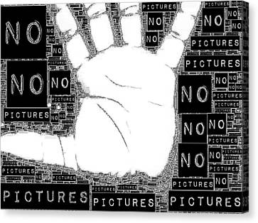 No Pictures Canvas Print by ISAW Gallery