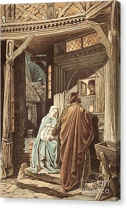 No Room At The Inn Canvas Print by Victor Paul Mohn