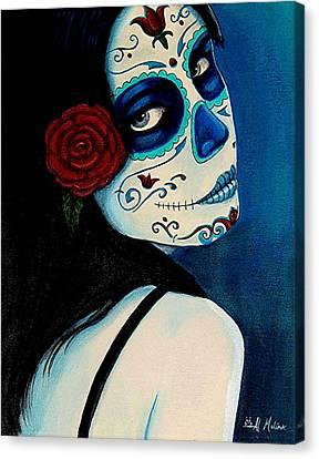 Dia Canvas Print - No Se Olvide De Mi by Al  Molina