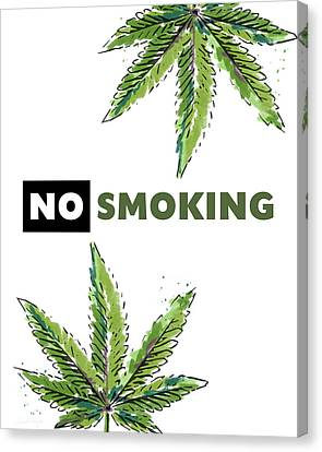No Smoking - Art By Linda Woods Canvas Print by Linda Woods