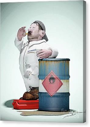 No Smoking Canvas Print by Thibault Cernaix