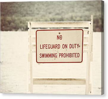 No Swimming Canvas Print by Lisa Russo