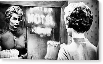 1960 Movies Canvas Print - No Vacancy by Rosie Keane