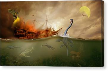 No Way Out Canvas Print by Surreal Photomanipulation