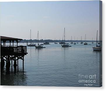 Canvas Print featuring the photograph No Wind by Greg Patzer