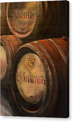 No Wine Before It's Time - Barrels-chateau Meichtry Canvas Print