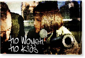 No Women No Kids Canvas Print by Andrea Barbieri