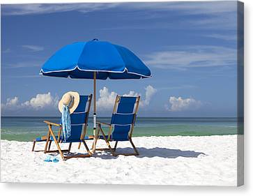 Beach Canvas Print - No Worries by Janet Fikar