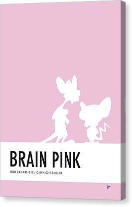 Woodies Canvas Print - No01 My Minimal Color Code Poster Pinky And The Brain by Chungkong Art