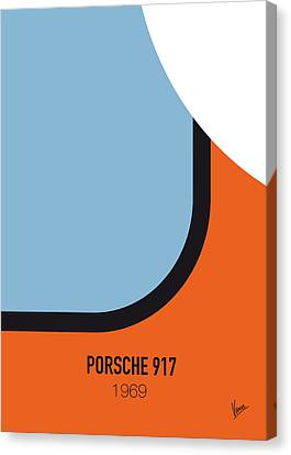 No016 My Le Mans Minimal Movie Car Poster Canvas Print