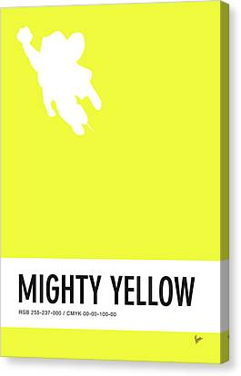 No02 My Minimal Color Code Poster Mighty Mouse Canvas Print