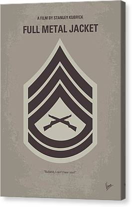 No030 My Full Metal Jacket Minimal Movie Poster Canvas Print