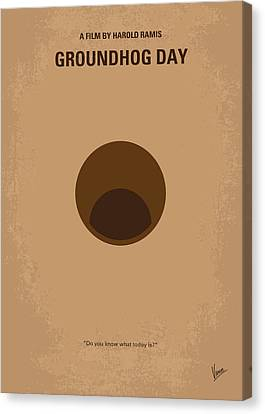 Weathered Canvas Print - No031 My Groundhog Minimal Movie Poster by Chungkong Art