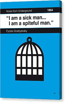 No031-my-notes From Underground-book-icon-poster Canvas Print