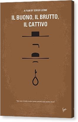 No042 My Il Buono Il Brutto Il Cattivo Minimal Movie Poster Canvas Print by Chungkong Art