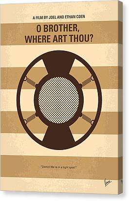 Inspiring Canvas Print - No055 My O Brother Where Art Thou Minimal Movie Poster by Chungkong Art