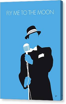 No059 My Sinatra Minimal Music Poster Canvas Print by Chungkong Art