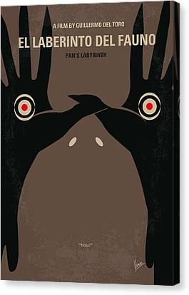 No061 My Pans Labyrinth Minimal Movie Poster Canvas Print by Chungkong Art