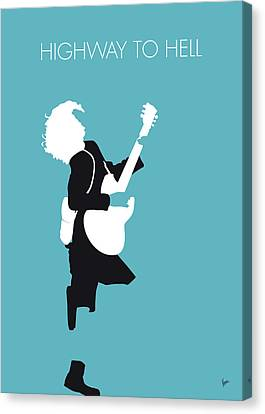 Angus Canvas Print - No065 My Acdc Minimal Music Poster by Chungkong Art