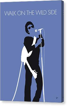 No068 My Lou Reed Minimal Music Poster Canvas Print
