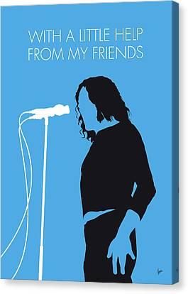 No069 My Joe Cocker Minimal Music Poster Canvas Print by Chungkong Art