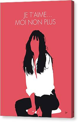 No072 My Birkin Minimal Music Poster Canvas Print by Chungkong Art