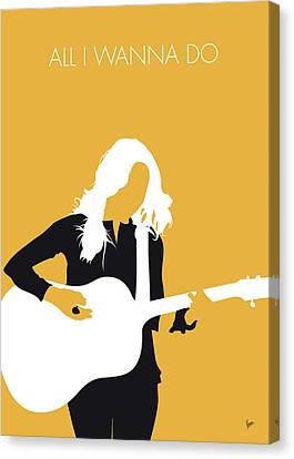 No074 My Sheryl Crow Minimal Music Poster Canvas Print by Chungkong Art