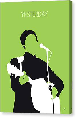 Yesterday Canvas Print - No076 My Paul Mccartney Minimal Music Poster by Chungkong Art