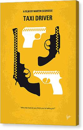No087 My Taxi Driver Minimal Movie Poster Canvas Print by Chungkong Art