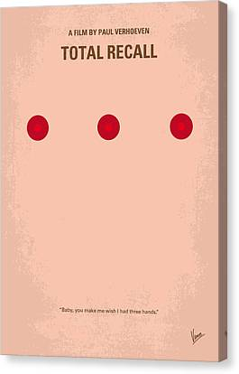 No097 My Total Recall Minimal Movie Poster Canvas Print by Chungkong Art