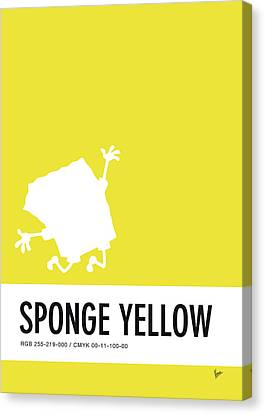 No10 My Minimal Color Code Poster Spongebob Canvas Print
