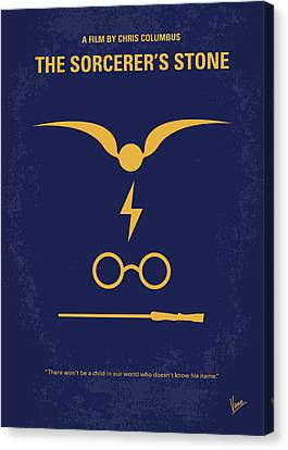 No101-1 My Hp - Sorcerers Stone Minimal Movie Poster Canvas Print by Chungkong Art
