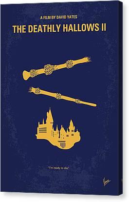 No101-8 My Hp - Deathly Hallows II Minimal Movie Poster Canvas Print