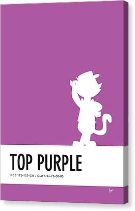 No11 My Minimal Color Code Poster Top Cat Canvas Print