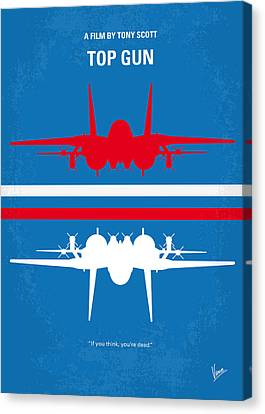 No128 My Top Gun Minimal Movie Poster Canvas Print by Chungkong Art