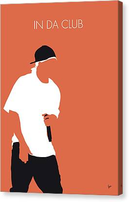 Eminem Canvas Print - No153 My 50 Cent Minimal Music Poster by Chungkong Art