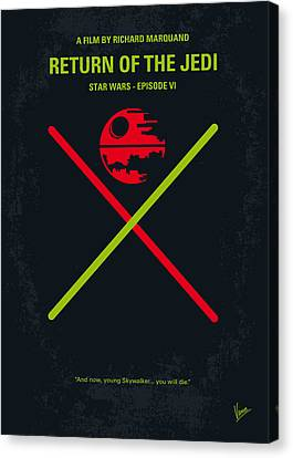 No156 My Star Wars Episode Vi Return Of The Jedi Minimal Movie Poster Canvas Print by Chungkong Art