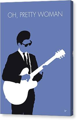 60s Canvas Print - No158 My Roy Orbison Minimal Music Poster by Chungkong Art